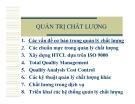 Quản trị chất lượng- Các vấn đề cơ bản trong quản lý chất lượng