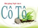 Bài giảng Ngữ văn 6 bài 25: Cô Tô của Nguyễn Tuân