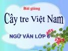 Bài giảng Ngữ văn 6 bài 26: Cây tre Việt Nam