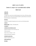Giáo án bài 45: Ảnh của một vật tạo bởi thấu kính phân kỳ  – Lý 9 - GV.Đ.H.Châu