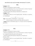 Chuyên đề ôn thi học sinh giỏi môn Ngữ văn lớp 9