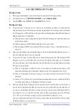 Bài tập Thiết kế luận lý 1