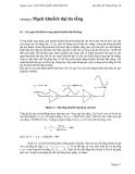 Kỹ thuật điện tử - Mạch khuếch đại đa tầng - Nguyễn Ngọc Mai Khanh