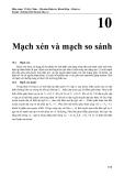 Kỹ thuật điện tử - Mạch xén và mạch so sánh - Võ Kỳ Châu