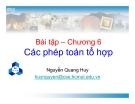 Bài tập Các phép toán tổ hợp - Nguyễn Quang Huy