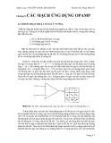 Kỹ thuật điện tử - Các mạch ứng dụng OPAMP - Nguyễn Ngọc Mai Khanh