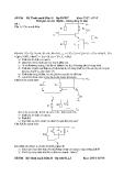 Đề thi: Kỹ thuật mạch điện tử