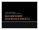 Tiểu luận: Bảo hiểm đơn