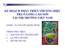 Tiểu luận:Kế hoạch phát triển thương hiệu trà Ô  Long Cao Sơn tại thị trường Việt Nam