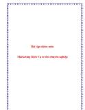 Tiểu luận:  Marketing Dịch Vụ xe ôm chuyên nghiệp