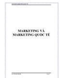 Marketing và marketing quốc tế