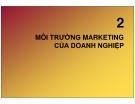 Chương 2b:  Môi trường marketing của doanh nghiệp
