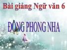 Bài giảng Ngữ văn 6 bài 31: Động Phong Nha