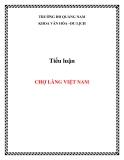 Tiểu luận: Chợ làng Việt Nam
