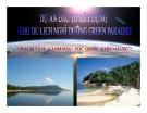 Tiểu luận: Dự án đầu tư xây dựng khu du lịch nghỉ dưỡng Green  Paradise -Kiên Giang
