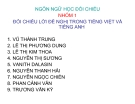 Tiểu luận: Đối chiếu lời đề nghị trong tiếng Việt và tiếng Anh