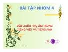 Tiểu luận:Đối chiếu phụ âm trong tiếng Việt và tiếng Anh