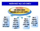 Bài giảng Ngôn ngữ học đối chiếu: Chương 3 - ThS. Nguyễn Thị Hồng Sanh