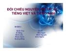 Tiểu luận: Đối chiếu nguyên âm trong tiếng Việt và tiếng Anh