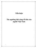 Tiểu luận:  Tín ngưỡng thờ cúng tổ tiên của người Việt Nam