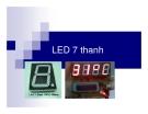 Bài giảng: LED 7 thanh