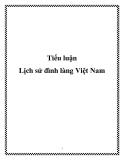 Tiểu luận: Lịch sử đình làng Việt Nam