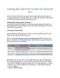 Hướng dẫn lập trình cơ bản với  Android Part 1