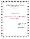 Tiểu luận: Văn hóa cồng chiêng Tây Nguyên
