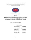 Tiểu luận:Khai thác các hoạt động du lịch về đêm tại quận 5 Thành Phố Hồ Chí Minh