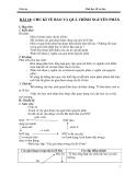 Giáo án Sinh học 10 bài 18: Chu kì tế bào và quá trình nguyên phân