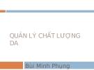 Quản lý chất lượng dự án - Bùi Minh Phung