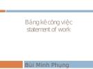 Bảng kê công việc - Bùi Minh Phung