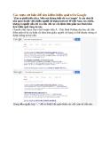 Các mẹo cơ bản giúp bạn tìm kiếm dễ dàng hơn trên google