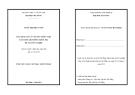 Luận văn thạc sĩ: Ứng dụng xử lý văn bản tiếng Việt xây dựng hệ thống kiểm tra đề tài tốt nghiệp