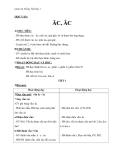 Giáo án Tiếng Việt 1 bài 77: Vần ĂC ÂC
