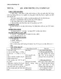 Giáo án Sinh học 10 bài 25: Sinh trưởng của vi sinh vật