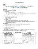 Giáo án Sinh học 10 bài 22: Dinh dưỡng, chuyển hoá vật chất và năng lượng ở VSV