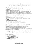 Giáo án Sinh học 10 bài 29: Cấu trúc các loại virut