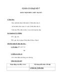 Giáo án Đại số 7 chương 4 bài 1: Khái niệm về biểu thức đại số