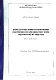 Đề tài: Đánh giá thực trạng và định hướng chuyển dịch cơ cấu hàng xuất khẩu Việt Nam thời kỳ 2005 - 2015