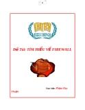 Tiểu luận: Tìm hiểu về Firewall