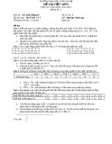 Đề thi xác suất thống kê  - ĐH Công nghệ ĐHQGHN