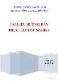 Tài liệu hướng dẫn thực tập tốt nghiệp - ĐH Mở Tp Hồ Chí Minh