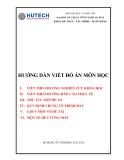 Hướng dẫn viết đồ án môn học - ĐH Kỹ thuật công nghệ HCM