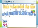 Quản lý học hành chính nhà nước - Chương 2 Quản lý nhà nước về giáo dục và đào tạo