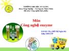Công nghệ enzyme - Ứng dụng enzyme trong sản xuất bia