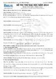 Đề thi thử Đại học  học năm 2014 môn toán khối A và khối A1 lần 5