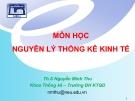 Bài giảng Nguyên lý thống kê kinh tế: Chương 5 (Phân tích hồi quy và tương quan) - ThS. Nguyễn Minh Thu
