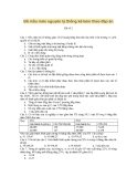 Đề mẫu môn nguyên lý thống kê kèm theo đáp án - Đề số 2