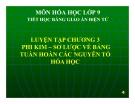 Bài giảng Hóa học 9 bài 32: Luyện tập chương 3 - Phi kim, sơ lược về bảng tuần hoàn các nguyên tố hóa học